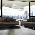Ghế sofa da Malaysia màu đen huyền bí cho phòng khách gia đình