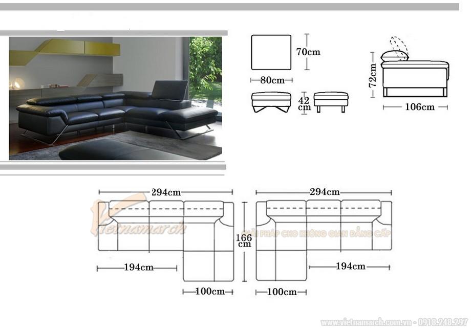 Mẫu sofa Italia màu sắc sang trọng cực kỳ bắt mắt