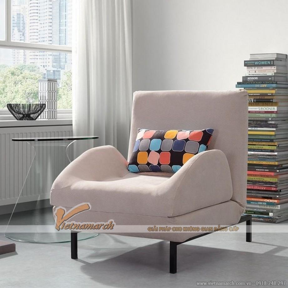 Mẫu sofa giường nỉ nhập khẩu Đài Loan xinh xắn