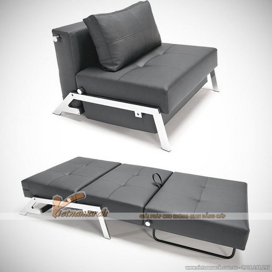 Sofa giường mini nhập khẩu Đài Loan chất liệu da