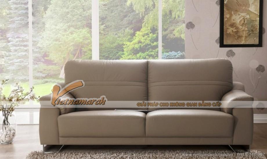 Mẫu sofa nhập khẩu Malaysia tựa cao cho phòng khách hiện đại