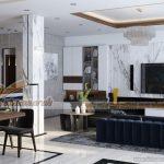 Mẫu thiết kế nội thất căn biệt thự Vinhomes Thăng Long hiện đại