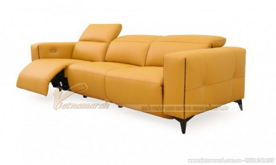 Mẫu sofa văng nhập khẩu Đài Loan màu vàng nổi bật