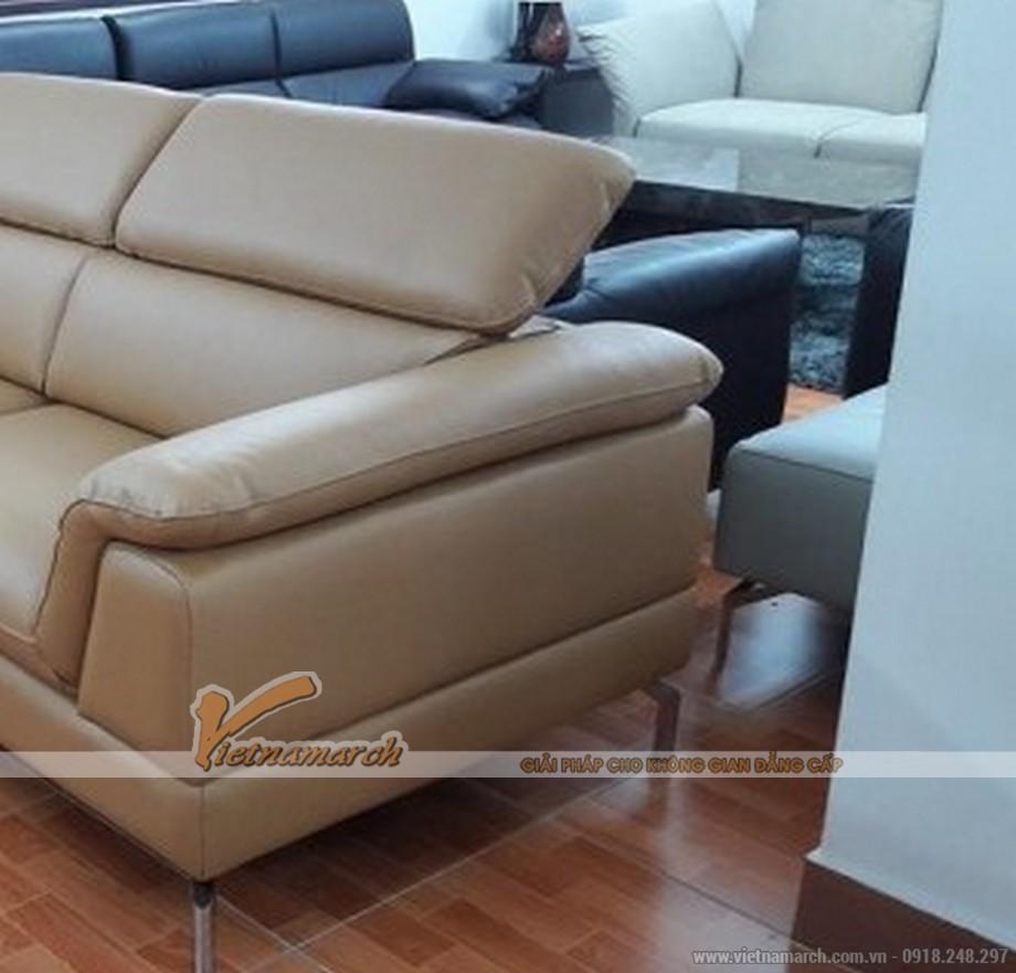 Ngắm nhìn mẫu sofa da góc Italia cho phòng khách ấn tượng