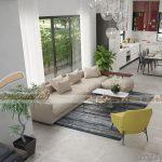 Phương án thiết kế nội thất biệt thự Vinhomes Thăng Long hiện đại, ấn tượng