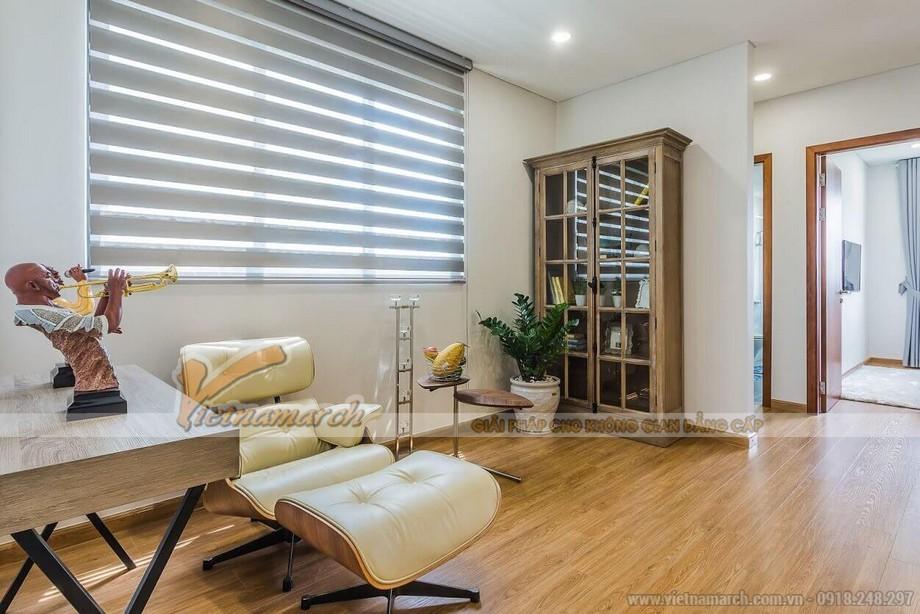 Phối cảnh phòng làm việc/ phòng đọc sách căn hộ mẫu biệt thự Vinhomes Thăng Long