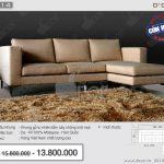 Mẫu ghế sofa vải nỉ NV314 thiết kế linh hoạt, thông minh làm chao đảo showroom nội thất Vietnamarch