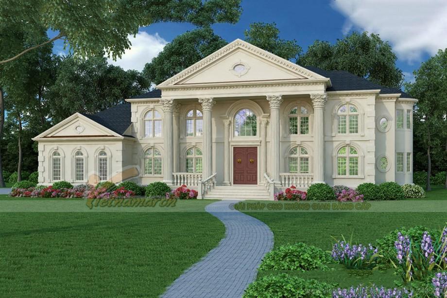 biệt thự được thiết kế theo kiến trúc Tân cổ điển đẹp