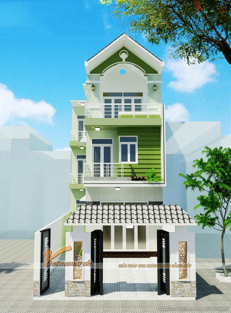 Ngôi nhà phố 3 tầng có thiết kế đẹp hiện đại