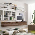 Kệ tivi kết hợp giá sách-thiết kế dành riêng cho không gian hẹp