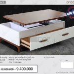 Ngất ngây chiêm ngưỡng mẫu bàn trà mặt gỗ thông minh BT62 đẹp mĩ mãn.