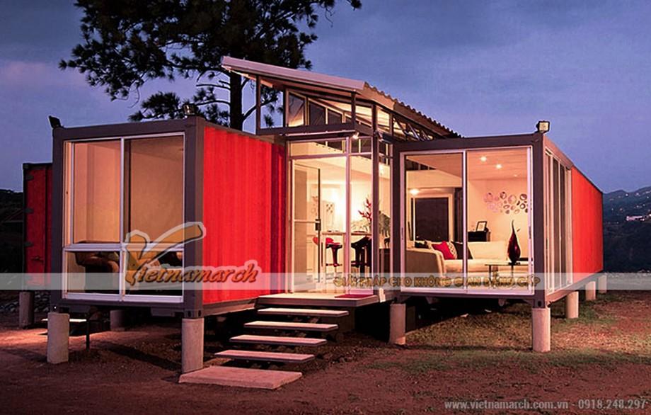 Mẫu nhà container đẹp thiết kế hiện đại