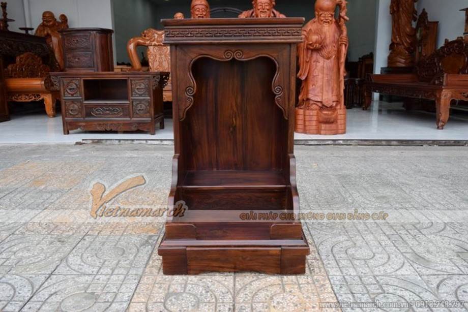 Mẫu bàn thờ Thần Tài, Thổ Địa đơn giản nhưng chuẩn phong thủy