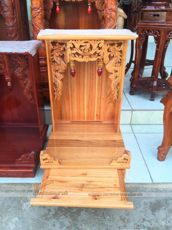 Mẫu bàn thờ Thần Tài, Thổ Địa đơn giản nhưng chuẩn phong thủy 04
