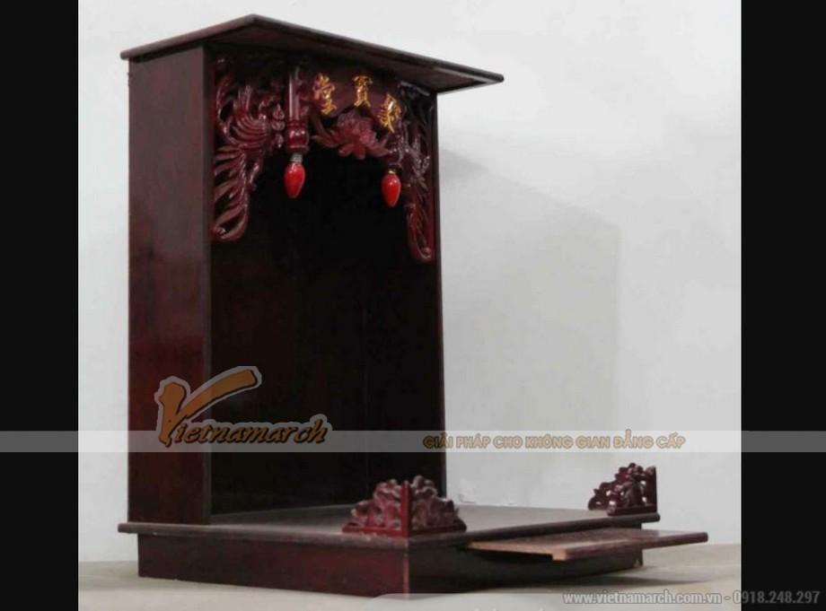 Mẫu bàn thờ Thần Tài, Thổ Địa đơn giản nhưng chuẩn phong thủy 05