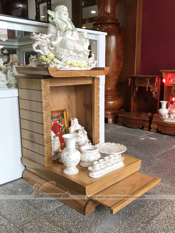 Mẫu bàn thờ Thần Tài, Thổ Địa đơn giản nhưng chuẩn phong thủy 06