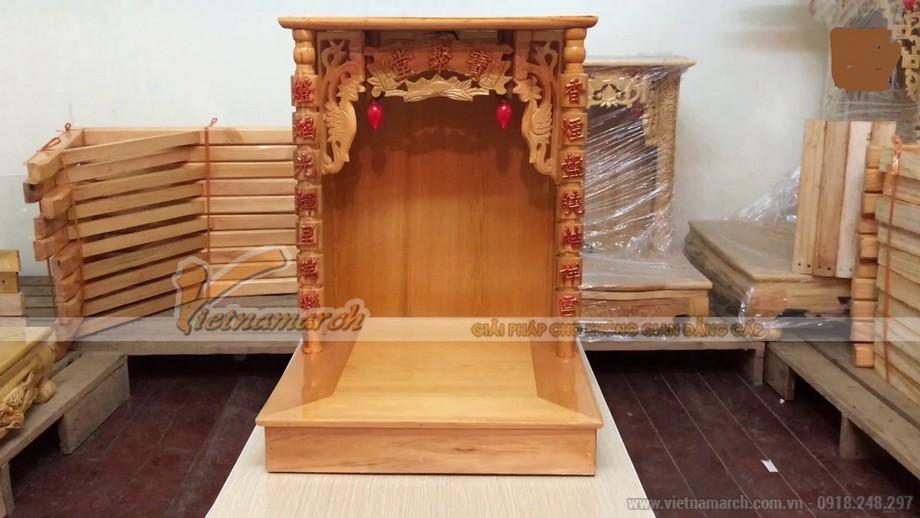 Mẫu bàn thờ Thần Tài, Ông Địa được đặt đóng chuẩn phong thủy