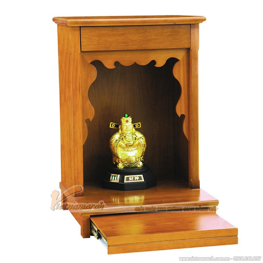 Mẫu bàn thờ Thần Tài, Ông Địa mang thiết kế hiện đại