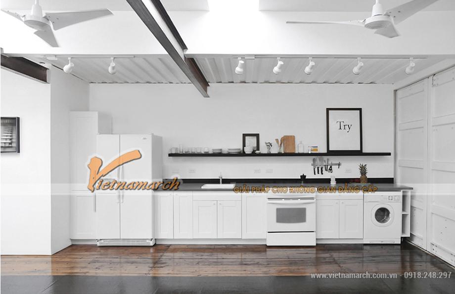 Không gian phòng bếp vô cùng hiện đại
