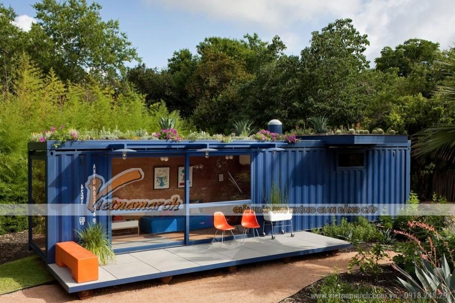 Mẫu nhà này được thiết kế từ 1 thùng container nhưng đầy đủ tiện nghi