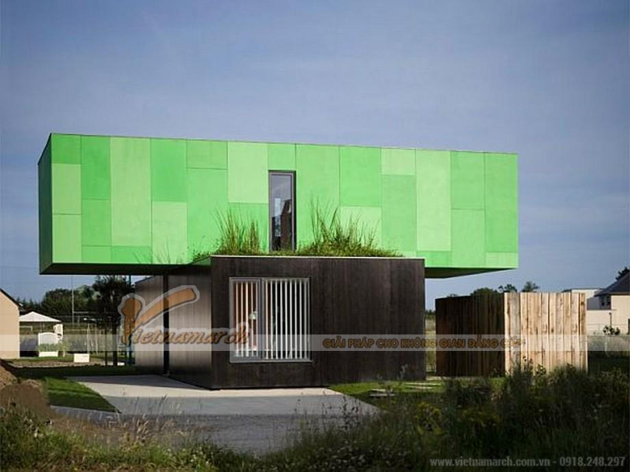 Mẫu nhà container 2 tầng thiết kế kiến trúc vô cùng ấn tượng