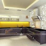 Mẫu tủ bếp Veneer đẹp sang trọng cho căn hộ chung cư