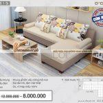 Mẫu sofa vải nỉ NG315 tuyệt vời các gia đình Việt không thể bỏ qua