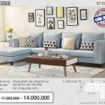 Chiêm ngưỡng mẫu sofa nỉ góc Việt hot nhất 2018 không thể bỏ lỡ – Mã NG317