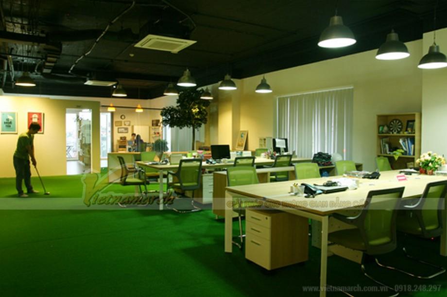 Thiết kế nội thất Văn phòng gần gũi thiên nhiên