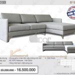 Sofa nỉ góc thanh lịch, trang nhã hứa hẹn sẽ phá cách cho không gian phòng khách – Mã NG301
