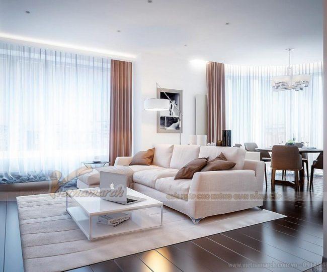 Hót tuyệt chiêu chọn thảm thải sàn cho phòng khách rộng rãi