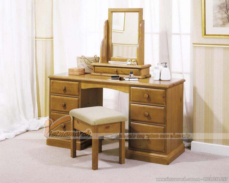 Mẫu bàn trang điểm bằng gỗ đẹp - MS04