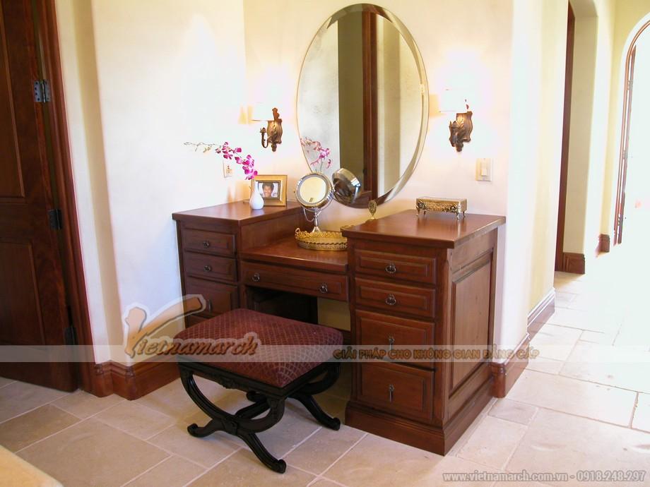 Mẫu bàn trang điểm bằng gỗ đẹp - MS05