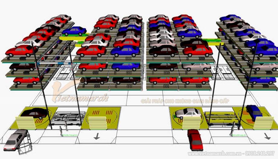 Mô hình hệ thống bãi đỗ xe tự động - 03