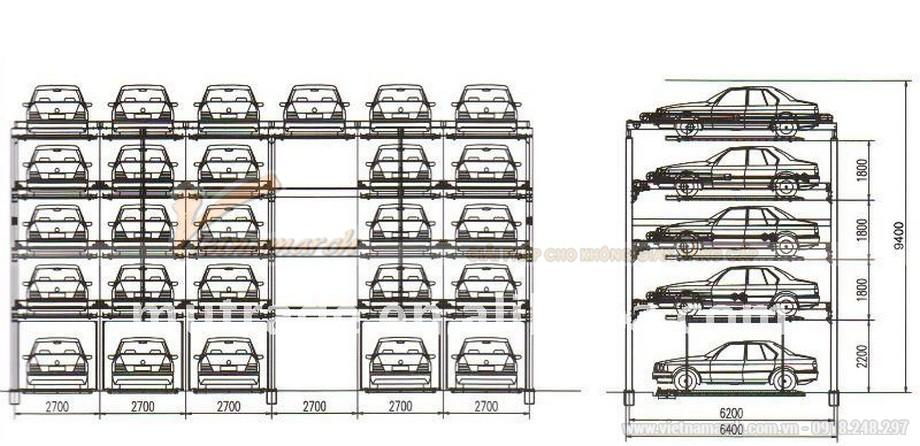Mô hình hệ thống bãi đỗ xe tự động - 04