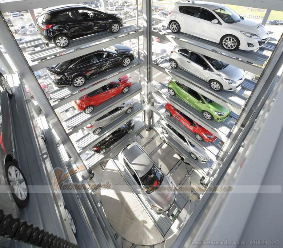 Rất nhiều thiết kế hệ thống đỗ xe tự động được thiết kế sao cho phù hợp với kiến trúc công trình