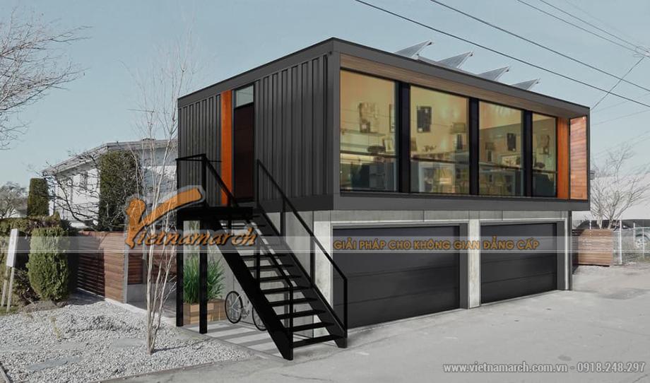 Mẫu nhà Container 2 tầng hiện đại