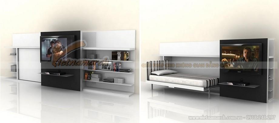 Sử dụng thiết kế nội thất thông minh cho phòng ngủ siêu nhỏ giúp tiết kiệm diện tích