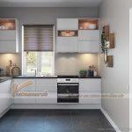 Mẫu tủ bếp nhỏ xinh cho không gian bếp chật hẹp