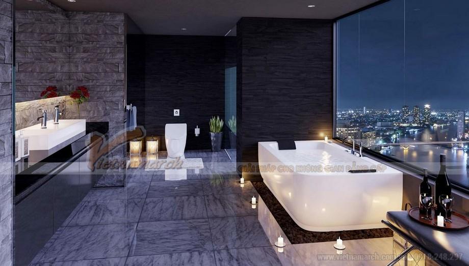Phòng tắm với view nhìn cực đẹp