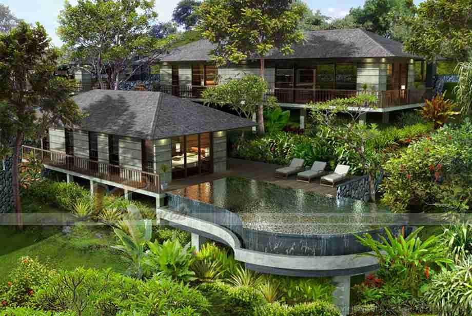 Khu biệt thự nhà vườn nghỉ dưỡng 2 tầng đẹp hiện đại - 01