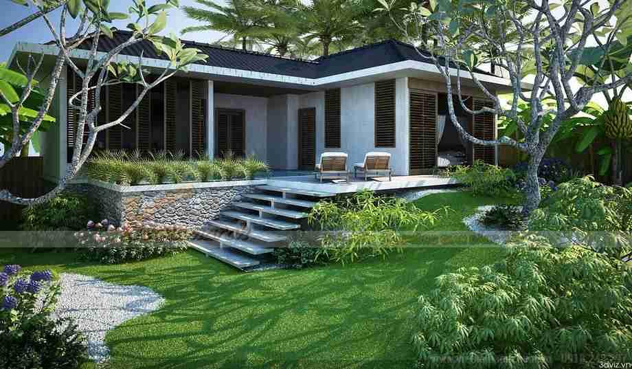 Ngôi biệt thự vườn mái thái đẹp hòa mình vào thiên nhiên - 02