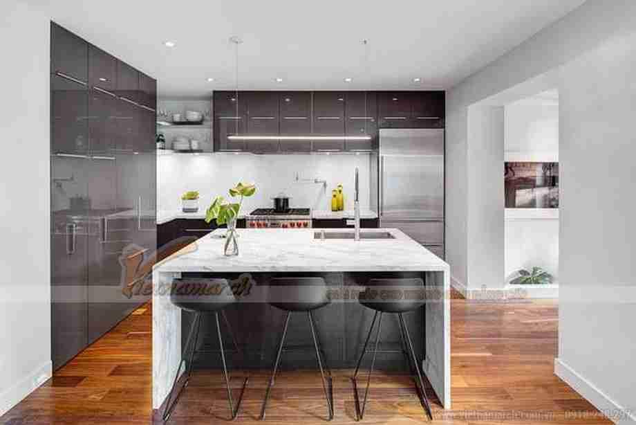Khu bếp nấu hiện đại và vô cùng tiên nghi