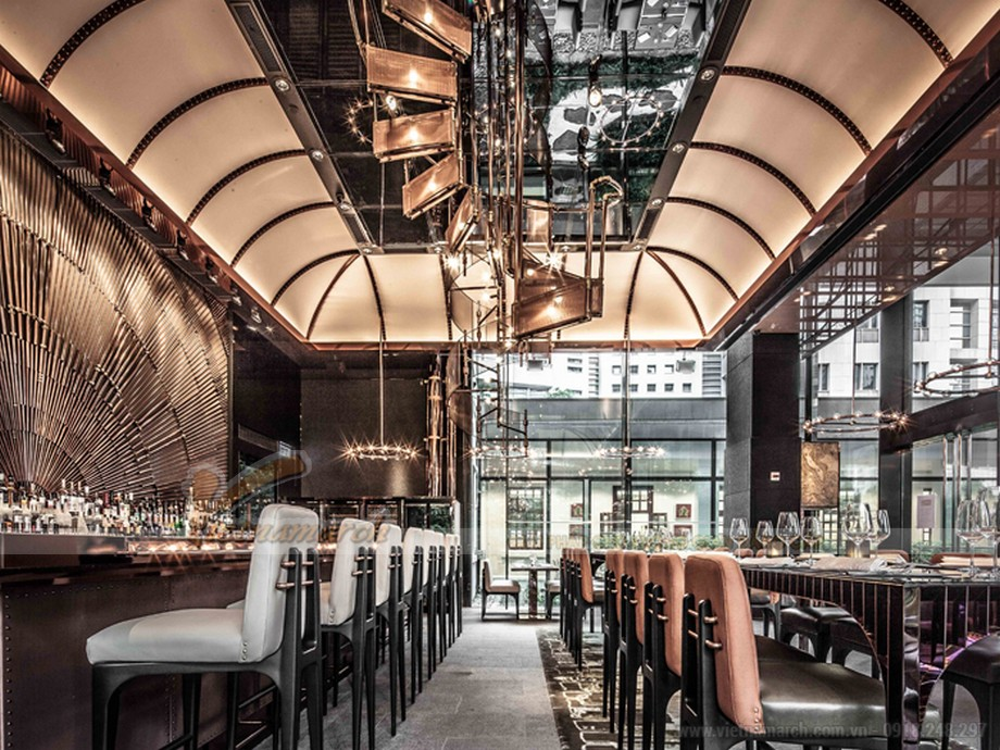 Thiết kế quán cafe độc lạ với phong cách mới Mid-century Modern