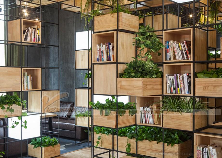 Phong cách thiết kế quán cà phê hòa mình vào thiên nhiên