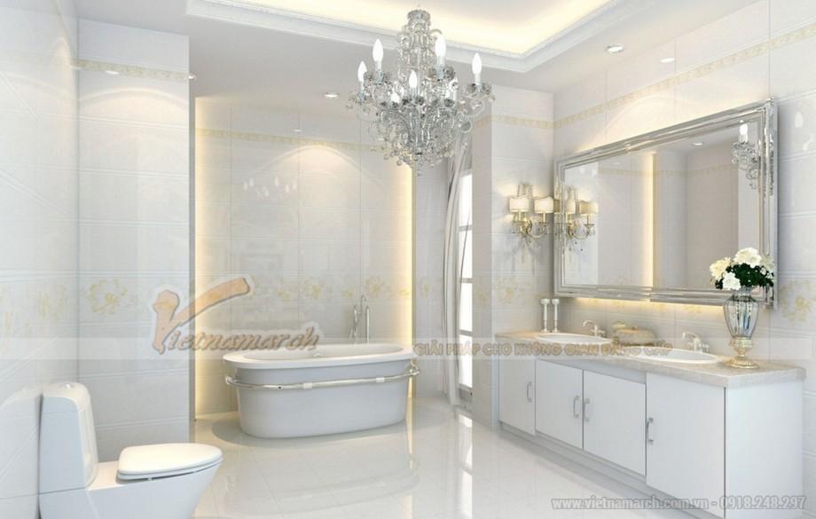 Phòng tắm thiết kế với không gian sáng và ấn tượng