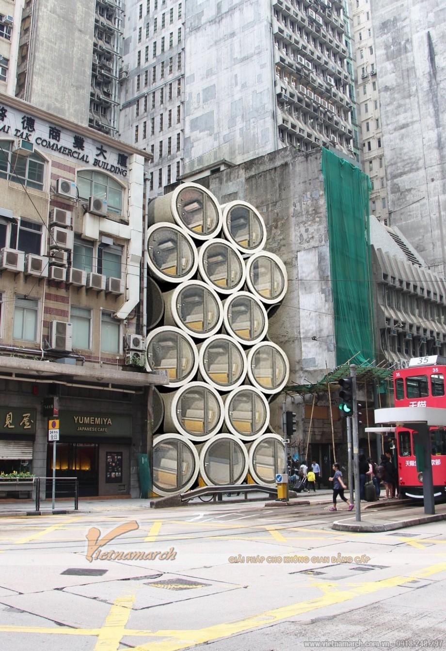 Những ngôi nhà ống cống đã được phân phối để bán ra thị trường.