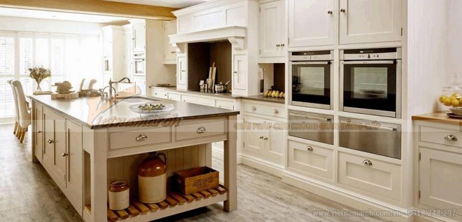 Tủ bếp cao cấp cho không gian nhà bếp thêm sang chảnh