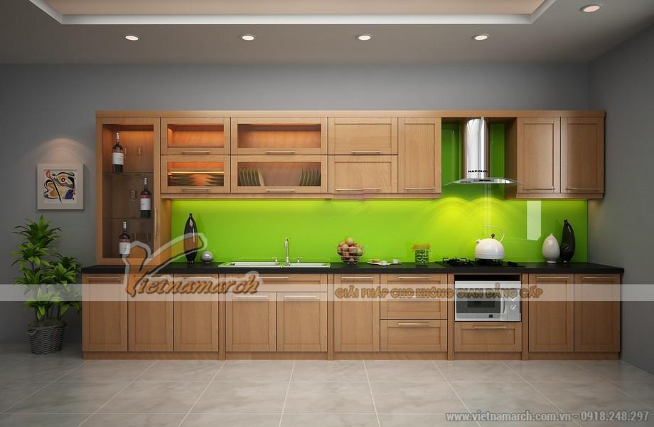 Mẫu tủ bếp gỗ đơn giản nhưng rất đẹp cho phòng bếp nhà bạn