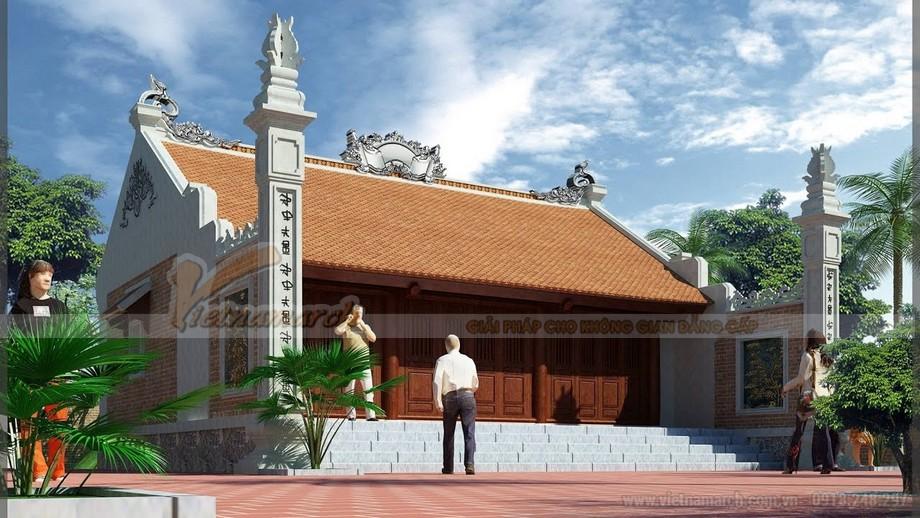 Thiết kế thi công nhà thờ họ 2 mái 3 gian